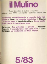 Copertina del fascicolo dell'articolo Tra due regni. Sull'antinomia del politico in Max Weber