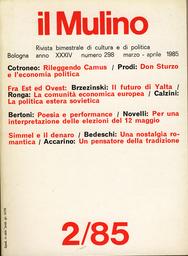 Copertina del fascicolo dell'articolo Simmel, pensatore della transizione