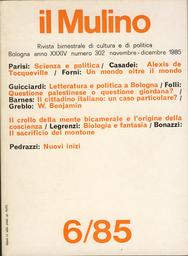 Copertina del fascicolo dell'articolo Esperienza e storia in Benjamin