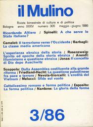 Copertina del fascicolo dell'articolo Illuminismo e questione ebraica