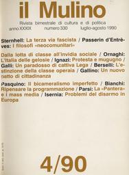 Copertina del fascicolo dell'articolo I problemi della valutazione delle forze convenzionali in Europa