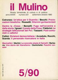 Copertina del fascicolo dell'articolo Altiero Spinelli ovvero la concretezza dell'utopia