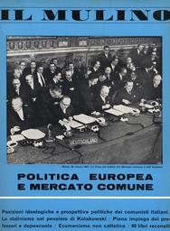 Copertina del fascicolo dell'articolo L'Europa del Mercato Comune fra liberismo e pianificazione