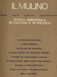 Copertina del fascicolo dell'articolo Recenti orientamenti dottrinali in materia di rapporti fra Chiesa e Stato