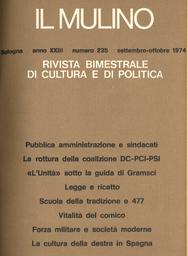 Copertina del fascicolo dell'articolo L'età della Restaurazione al Congresso di storia del Risorgimento