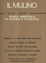 Copertina del fascicolo dell'articolo I rapporti cino-tedeschi dal 1949 al 1972