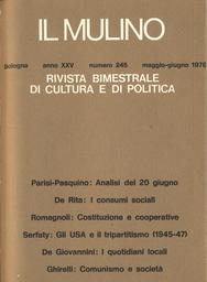 Copertina del fascicolo dell'articolo 20 giugno: struttura politica e comportamenti elettorali