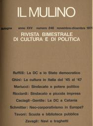 Copertina del fascicolo dell'articolo La DC e i problemi dello Stato democratico (1943-1960)