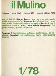 Copertina del fascicolo dell'articolo Dal femminismo al corporativismo femminile: il movimento femminista tedesco dall'impero al nazismo