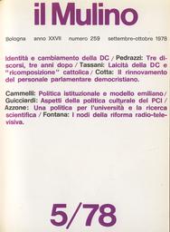 Copertina del fascicolo dell'articolo Il rinnovamento del personale parlamentare democristiano