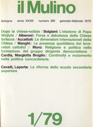 Copertina del fascicolo dell'articolo L'istituzione concordataria nella Chiesa del Vaticano II