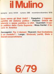 Copertina del fascicolo dell'articolo Sindacati, partiti, Stato e liberal-corporativismo
