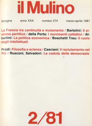 Copertina del fascicolo dell'articolo Sui nuovi rapporti tra filosofia e scienza